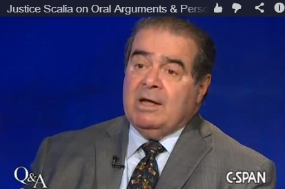 Justice Scalia on oral argument