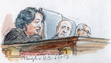 Justice Sotomayor delivering majority opinion (Art Lien)
