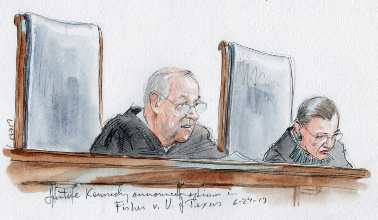 Justice Kennedy announces opinion of the Court (Art Lien)
