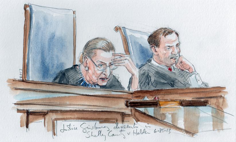 Justice Ginsburg dissents (Art Lien)
