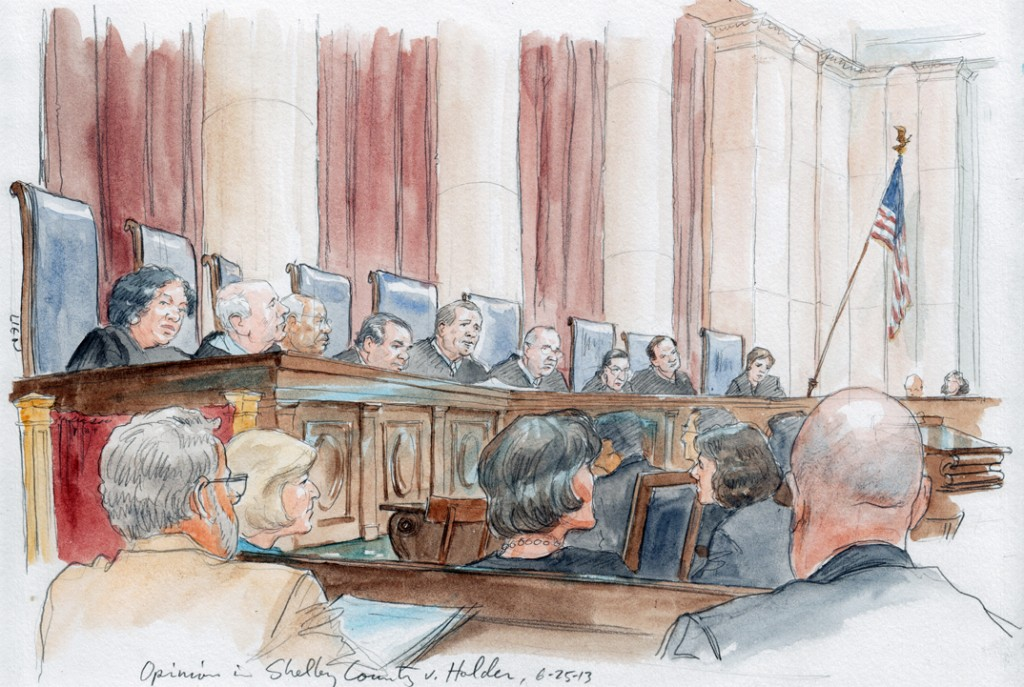 Chief Justice Roberts' opinion in Voting Rights Act, Section 5 (Art Lien)