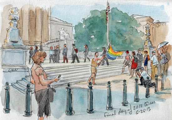 SCOTUS sketch : last day of 2012 term (Art Lien)