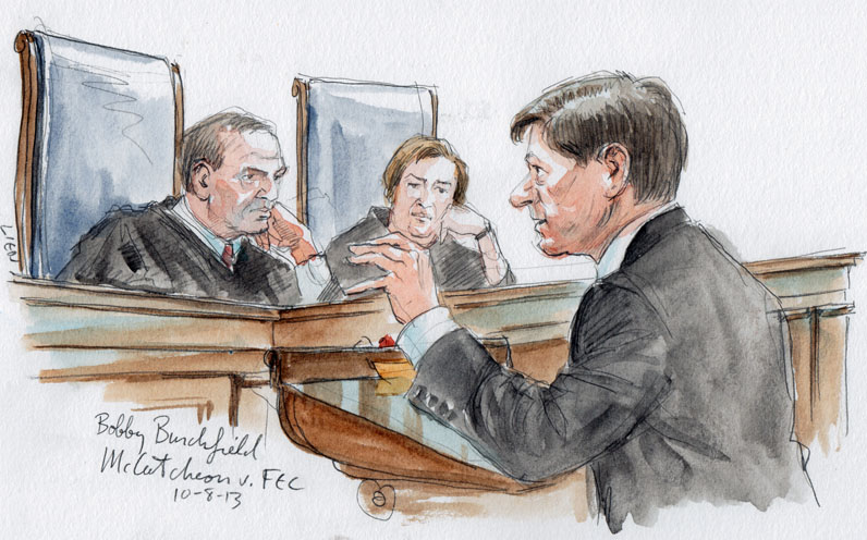 Bobby R. Burchfield arguing as amicus for Senator Mitch NcConnell (Art Lien)