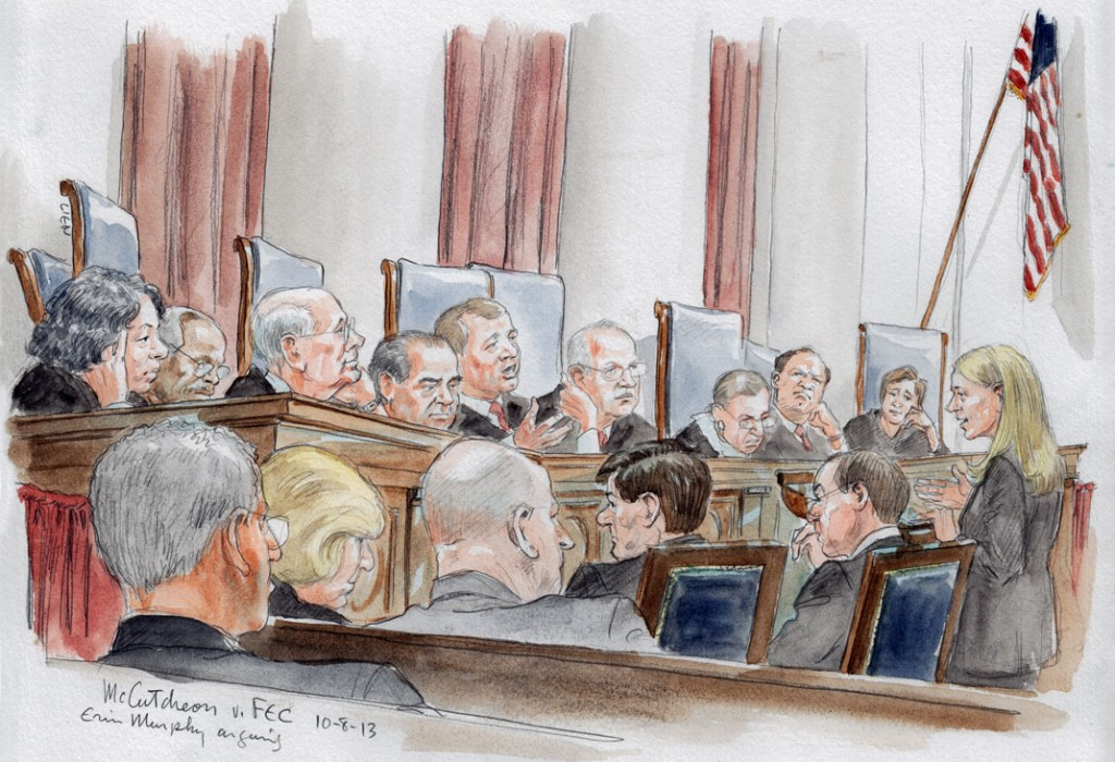 Erin E. Murphy arguing for petitioner McCutcheon (Art Lien)
