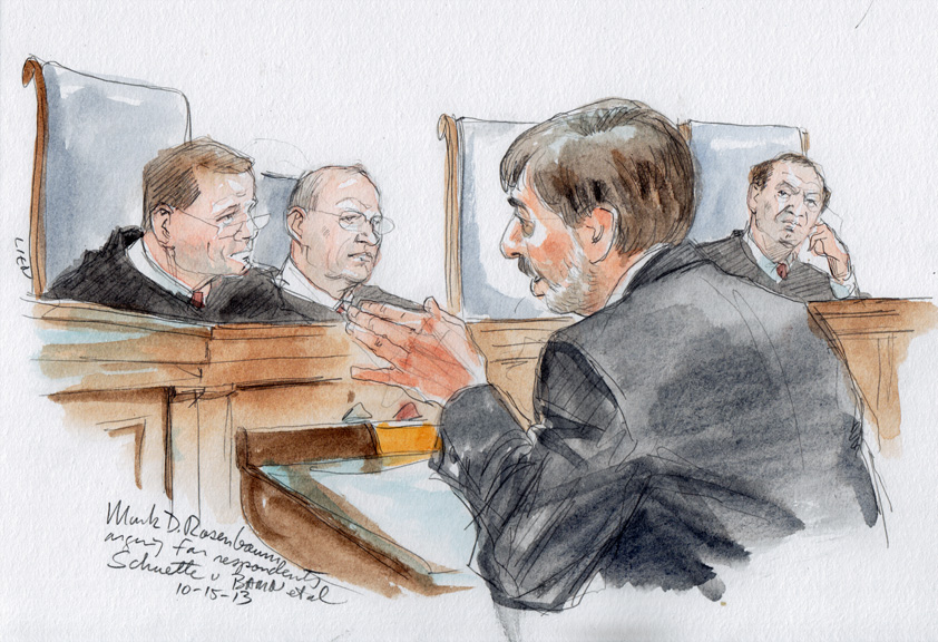 Mark D. Rosenbaum arguing for Cantrell respondents (Art Lien)