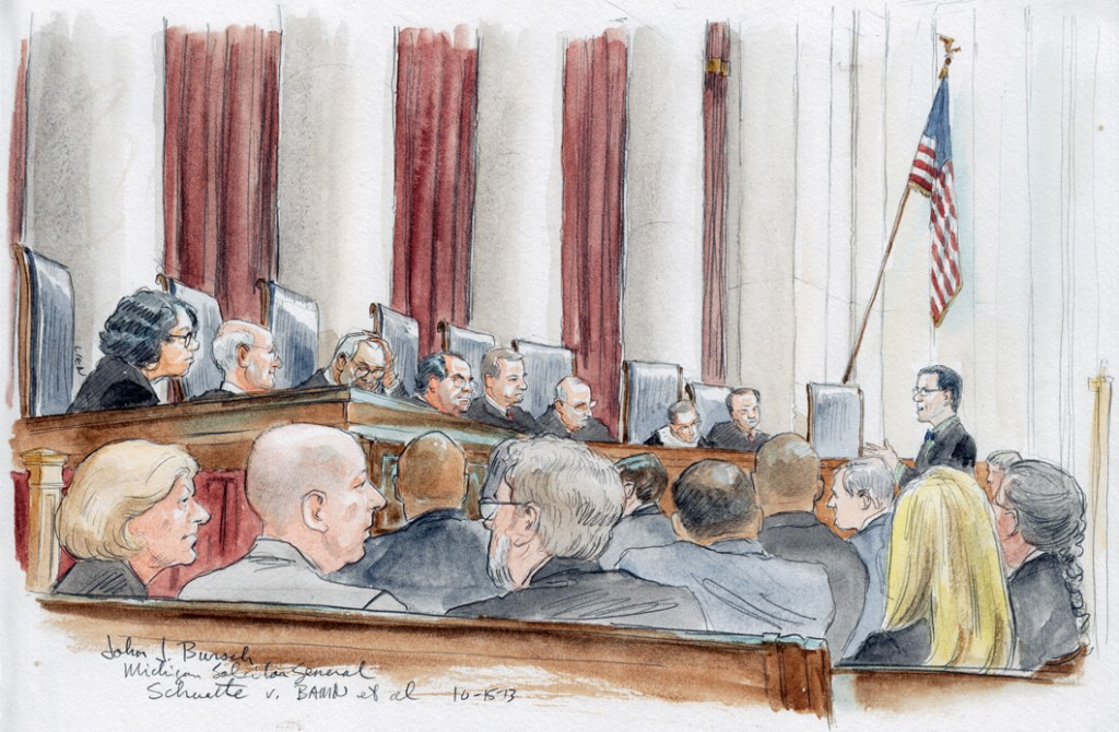 Michigan Solicitor General John J. Bursch arguing (Art Lien)