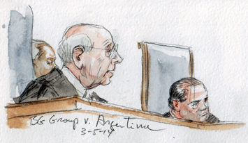 Justice Breyer announcing the opinion (Art Lien)
