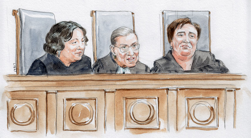 Justices Sotomayor, Ginsburg and Kagan (Art Lien)