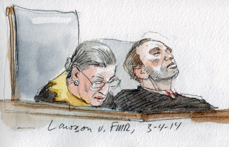 Justice Ginsburg delivers opinion (Art Lien)