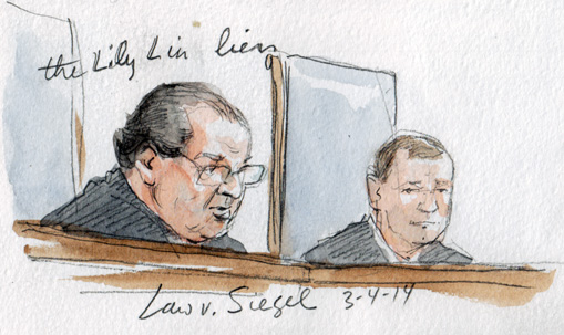 Justice Scalia delivers opinion (Art Lien)