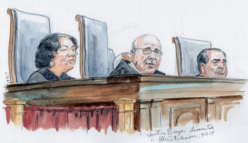 Justice Breyer dissents (Art Lien)