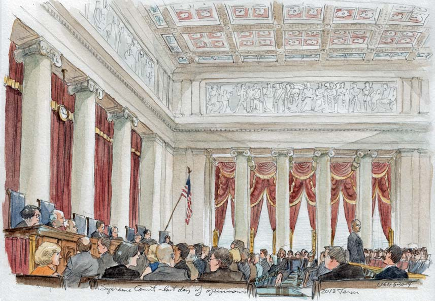 The courtroom as it appeared on the last day of opinions.