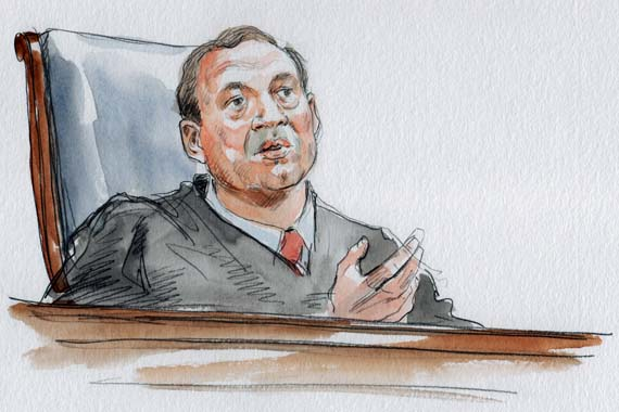 J. Alito announces the pinion in San Francisco v. Sheehan. (Art Lien)